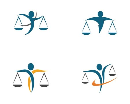 Lawyer logo template vector icon
