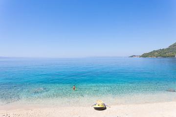 Drasnice, Dalmatia, Croatia - Rowing boat at the beautiful beach of Drasnice
