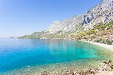Drasnice, Dalmatia, Croatia - Overview across the beautiful bay of Drasnice