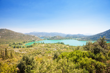Bacina Lakes, Dalmatia, Croatia - Viewpoint lookout upon the beautiful Bacina Lakes