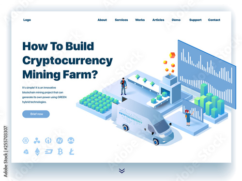 Website providing the service of how to build cryptocurrency mining