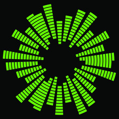 Equalizer music sound wave circle vector symbol icon design. Equalizer icon isolated.