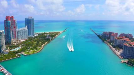 Fototapete - Miami beach aerial buildings