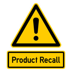 nbcs12 NewBigCombinationSign nbcs - english text - Product Recall: warning sign with exclamation mark - triangular - black yellow - xxl e7341