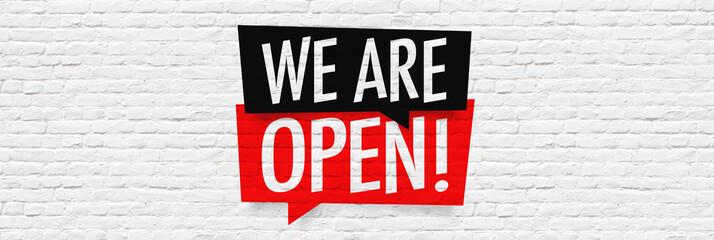 Fototapeta we are open obraz