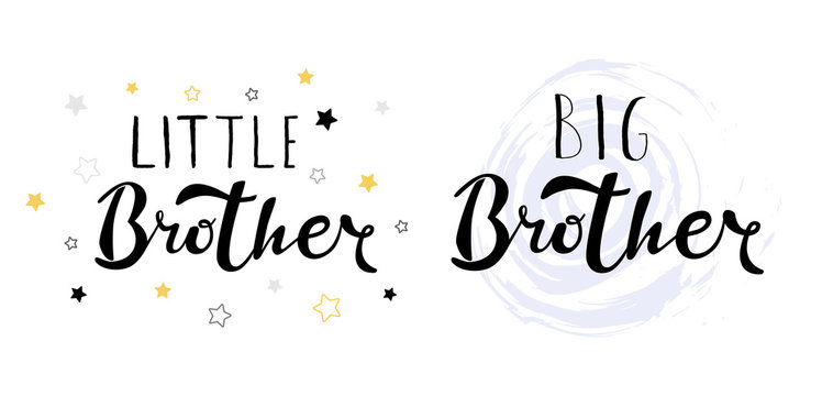 Little big brother. Lettering for babies clothes