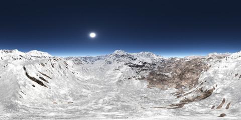 360 Grad Ansicht mit einem Bergpanorama