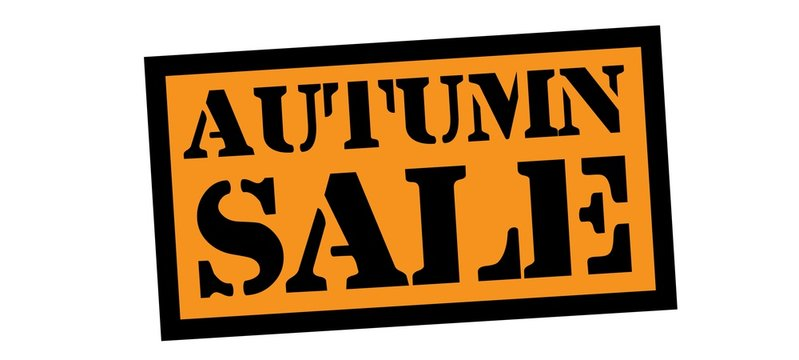 autumn sale stamp on white