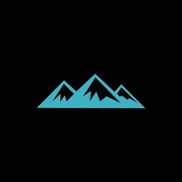 montains logo vector