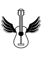 gitarre flügel fliegen engel himmel cool lernen spielen song cool sänger band party feiern spaß clipart comic cartoon design