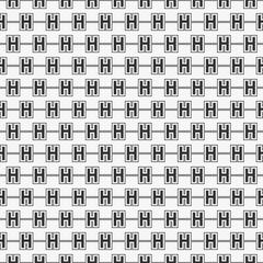 Vector seamless pattern of alphabet letter H