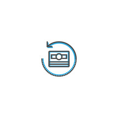 Money icon design. Marketing icon line vector illustration