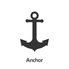 Anchor in cartoon style, marine card for kid, preschool activity for children, vector illustration
