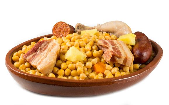 Cocido de garbanzos, gastronomía española