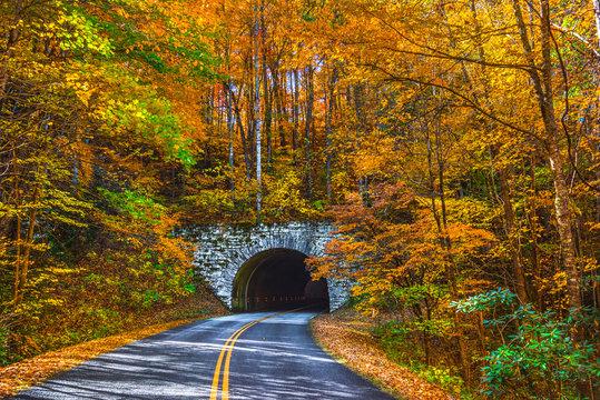 Blue Ridge Parkway near Asheville North Carolina