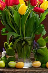 Easter fresh tulips
