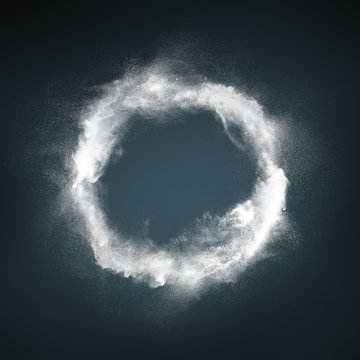Abstract design of white powder explosion