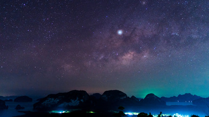 milky way galaxy at sametnangshe Phang Nga province thailand