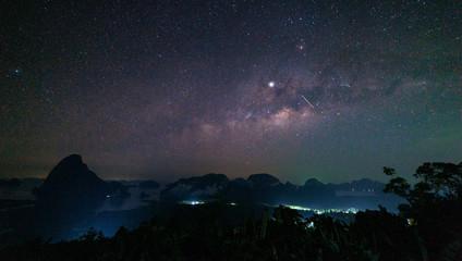 milky way galaxy at sametnangshe Phang Nga province thailand