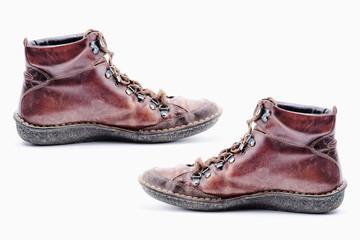 vieilles chaussures en cuir souple