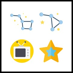 4 plasma icon. Vector illustration plasma set. television and constellation icons for plasma works