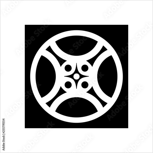 Film Reel Icon Cinema Movie Reel Icon Stock Image And Royalty Free