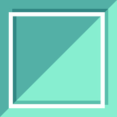 Abstract geometric pastel Background. Picture frame mock up. Template for your text and idea. Minimal Flat lay style concept.