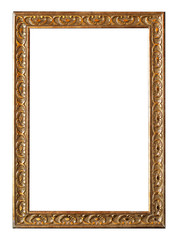 Golden vintage frame for painting or mirror