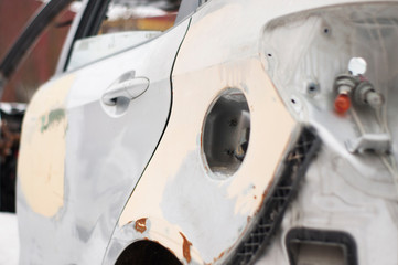 Broken car after an accident
