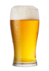 Foto auf AluDibond Alkohol glass of beer isolated on white background