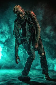 frightening zombie man
