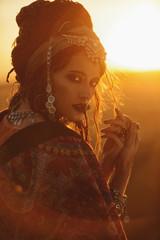hippy fashion girl