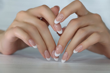 Beautiful Female Hands. Beautiful hand with perfect nails