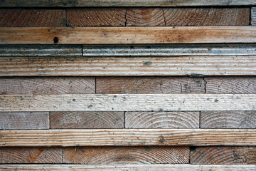 Dark wooden boards, planks. Natural aged wood, a natural process. Close-up. Stock Photos.