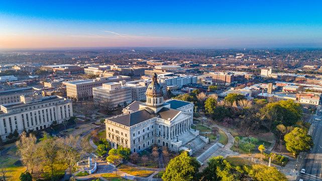 Downtown Columbia South Carolina Skyline SC Aerial