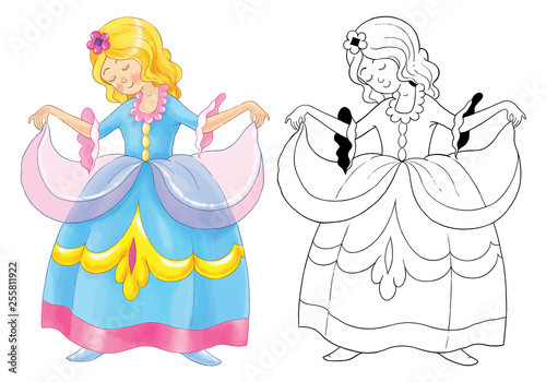 Cinderella Coloring Book Coloring Page Illustration For