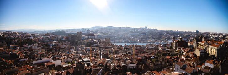porto panorama view from top of Clérigos Tower