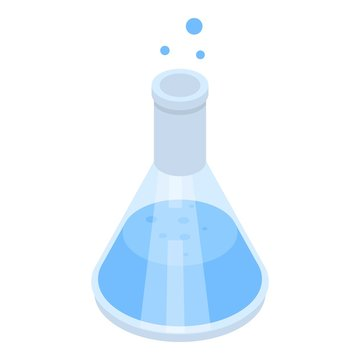 Chemical bottle icon. Isometric of chemical bottle vector icon for web design isolated on white background