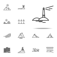 lighthouse icon. Landspace icons universal set for web and mobile