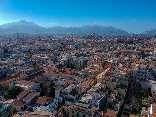 Palermo, Sicilia. Aerial view of Palermo, Sicily, Italy
