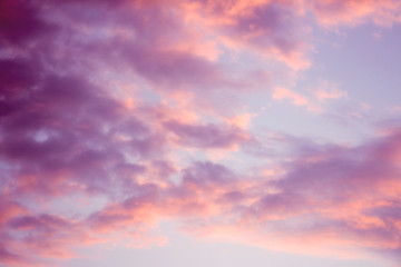 artistic sky with clouds