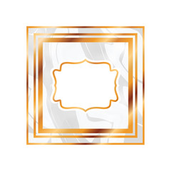 elegant frame victorian isolated icon