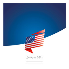 New abstract USA flag origami blue background vector