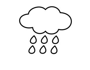 雨雲(線画)雨2(線画)