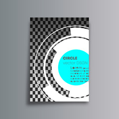 Rotating circles cover background for the banner, flyer, poster, brochure or other printing products