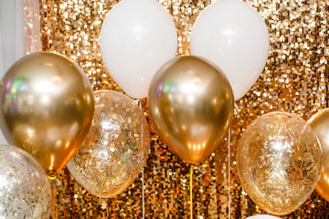 Close up balloons background. Party celebration concept.