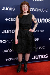 Megan Nash arrives at the 2019 Juno Awards in London, Ontario, Canada