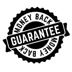 money back guarantee stamp on white