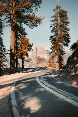 Glacier Point Road with Half Dome, Yosemite National Park, California, USA