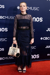 Meriel Reed arrives at the 2019 Juno Awards in London, Ontario, Canada